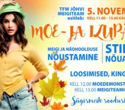 5 ноября с 11:00 до 15:00 в Jõhvi Kaubakeskus день моды и красоты!
